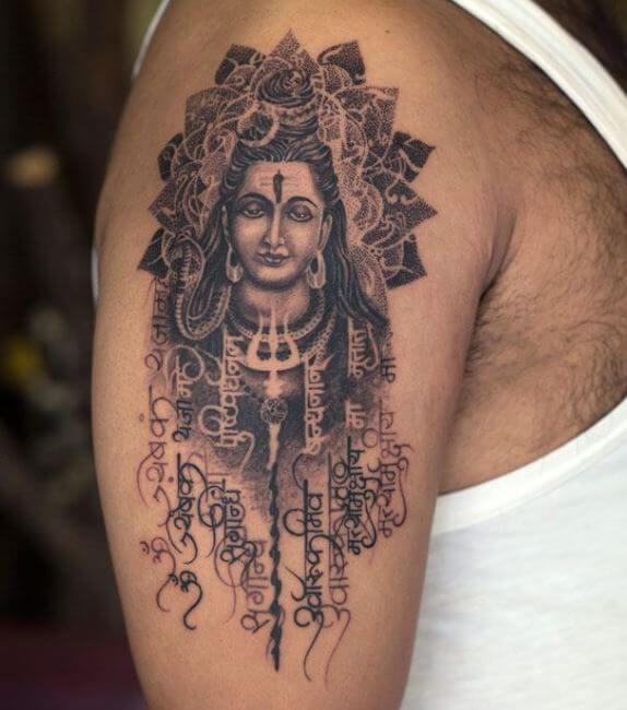 Shiva Tattoo Designs For Men On Chest