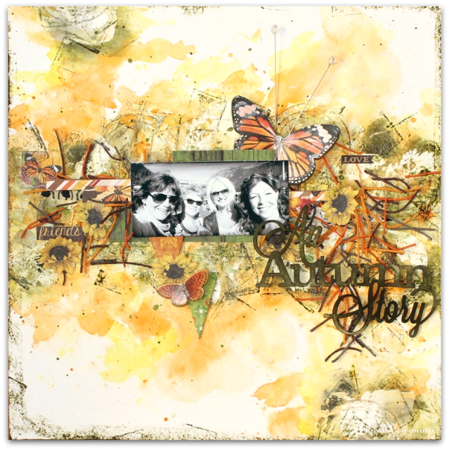 Scraps of Darkness and Scraps of Elegance: Mixed Media Monday!