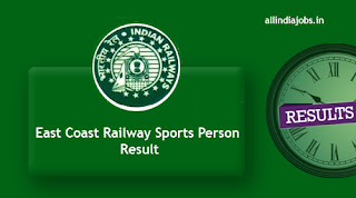 East Coast Railway Sports Person Result