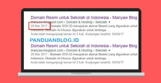 Cara Menghilangkan Tanggal Postingan Blog di SERP, Menyembunyikan Tanggal Postingan di Mesin Pencari, Cara Menghapus Tanggal Postingan di Google