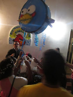 DECORACION DE GLOBOS ANGRY BIRDS