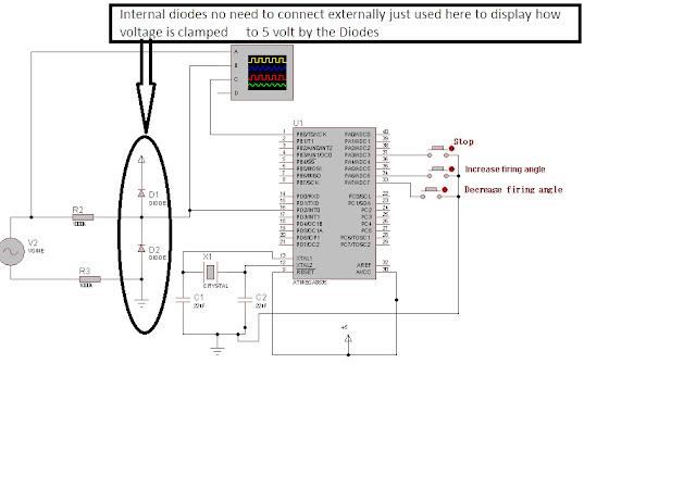 keyur u0026 39 s way  varying scr firing angle with avr microcontroller proteus simulation