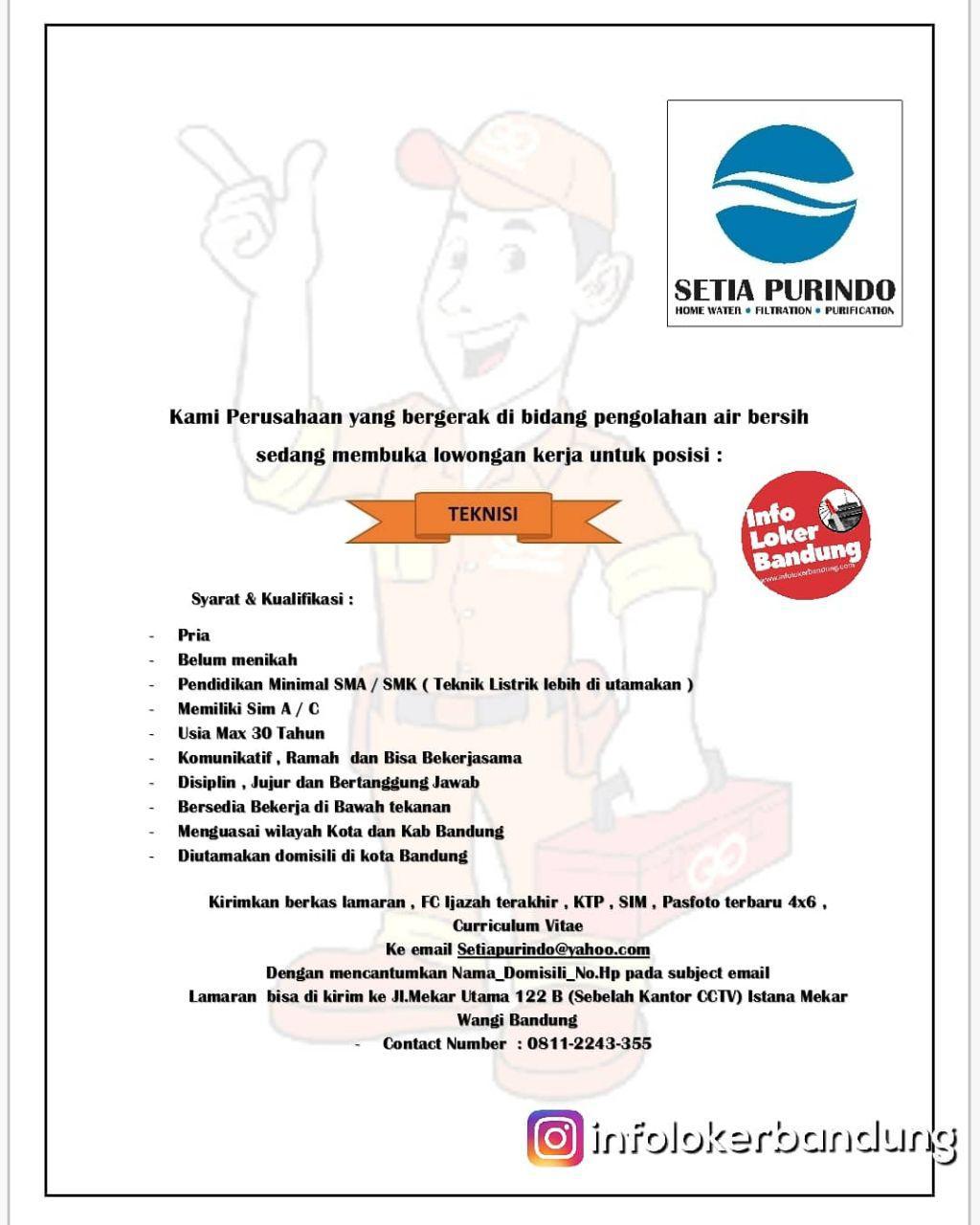 Lowongan Kerja PT. Setia Purindo Bandung Februari 2019