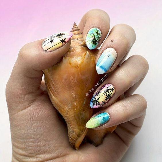 awesome aquarium nail art ideas