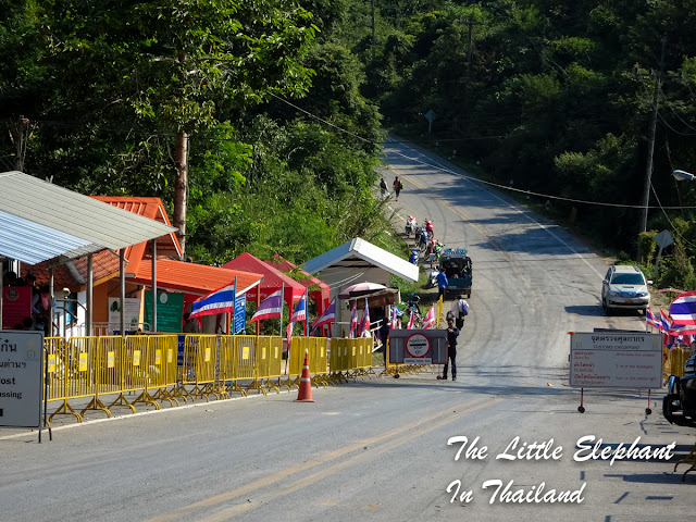 Huai Kon border crossing in Nan - Thailand