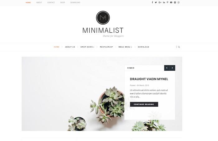 plantilla bonita para blogger minimalista themexpose gratis