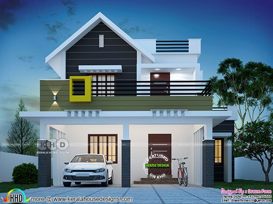 1564 square feet 4 bedroom cute Kerala home design