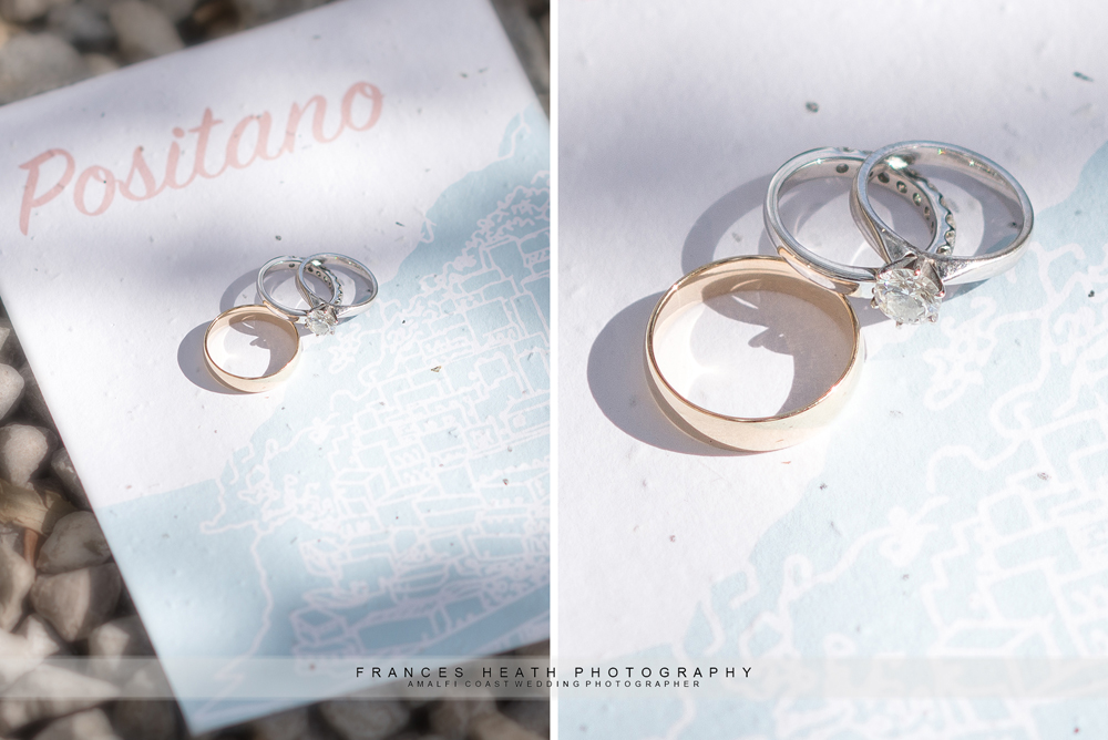 Positano wedding rings