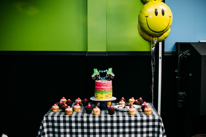 roller skating party ideas: more of the delicious birthday cake