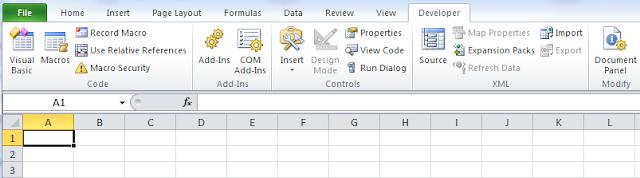 Cara Menampilkan Tab Developer pada Excel