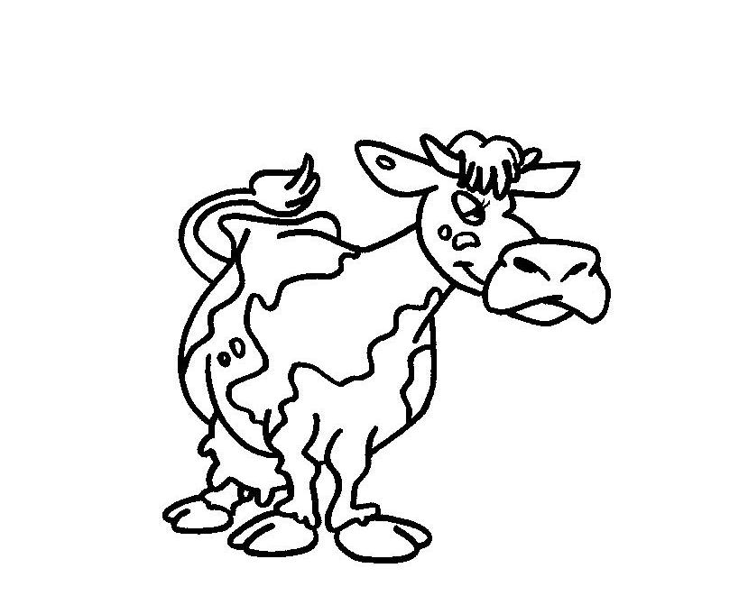 Desenho De Vacas Para Colorir