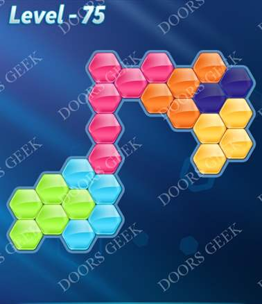 Block! Hexa Puzzle [6 Mania] Level 75 Solution, Cheats, Walkthrough for android, iphone, ipad, ipod