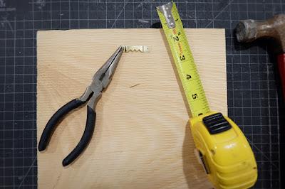 DIY frame printable picture hanging hardware nail needle nose pliers