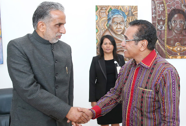 Union Minister of State Krishna Pal Gujjar returned to India from Timor Leste on a four-day visit