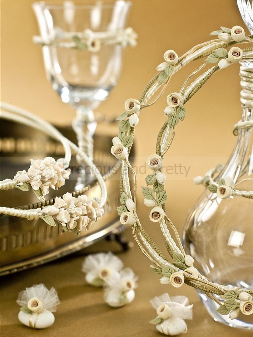 Vintage style Greek wedding set