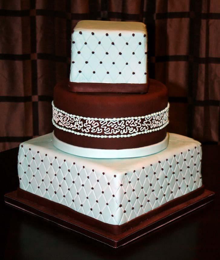 Square Wedding Cakes Designs