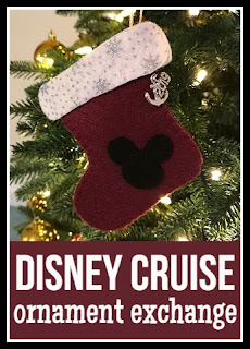 Disney Cruise ornament exchange handmade craft
