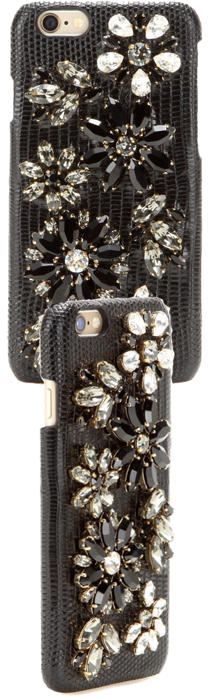 DOLCE & GABBANA Embellished leather iPhone 6 homes