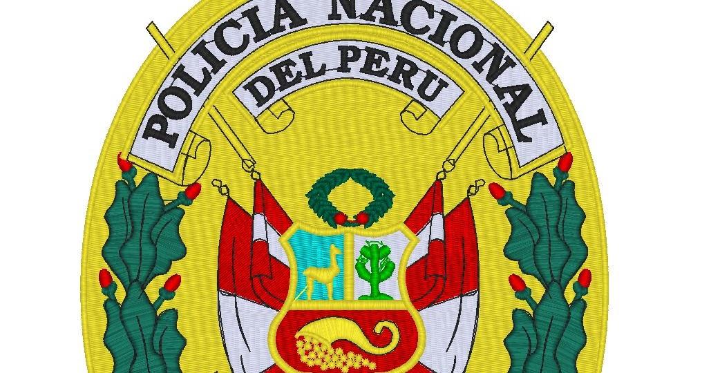 escudo policÍa nacional del peru   3112568135 impresión bordado