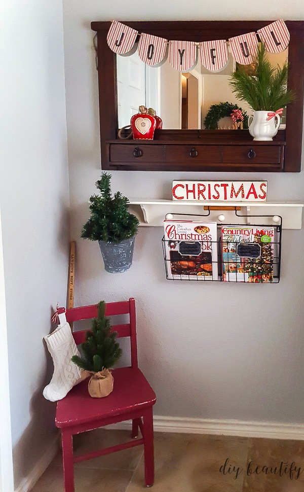 decorating entry for Christmas