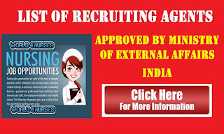 List of Recruiting Agents approved by Ministry Of external Affairs India