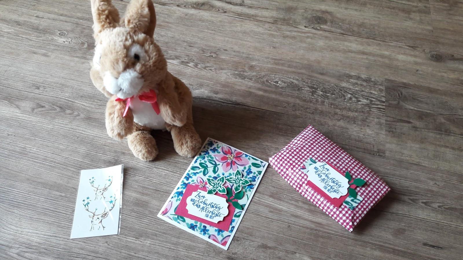 Geburtstagskarte basteln garten