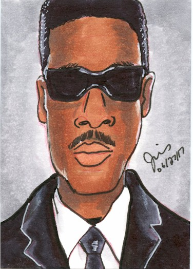 Agent J  Sketch Card