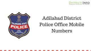 Adilabad District Police Office Mobile Numbers