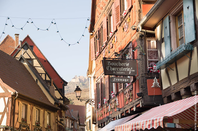 RIbeauville Alsacia Navidad casas