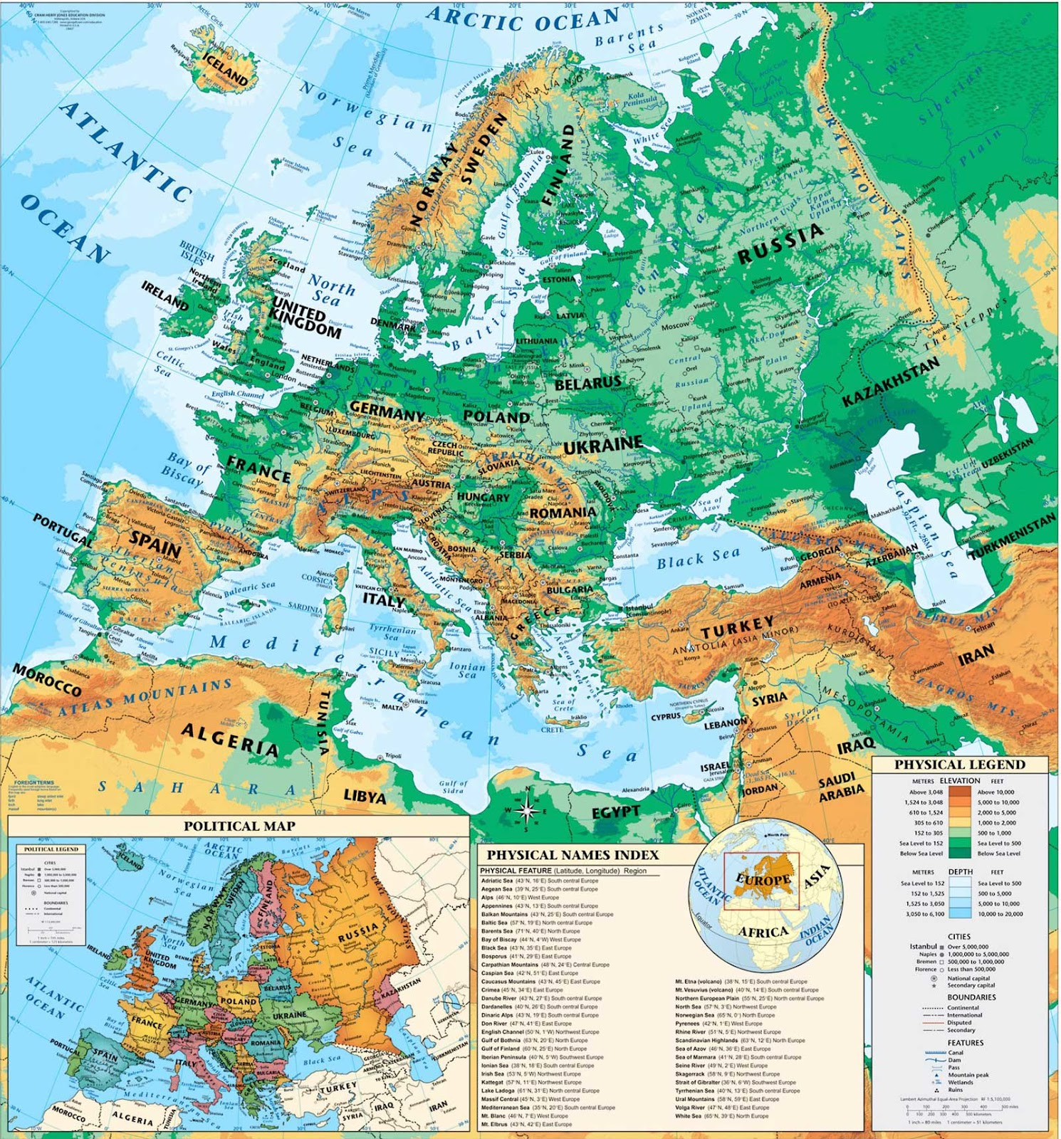 Science 6o Maps Of Europe