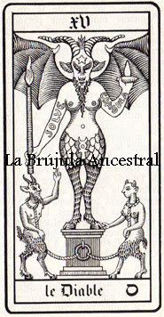 Tarot Wirth: El Diablo dibujo