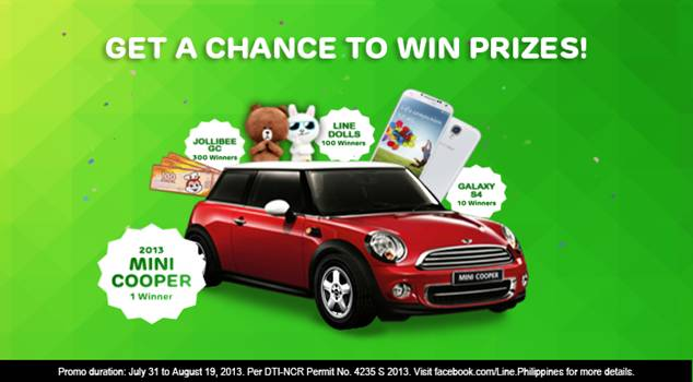 Get a chance to win 2013 Mini Cooper from LINE