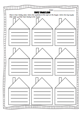 Free Worksheets » Math Family Facts Worksheets - Free Printable ...