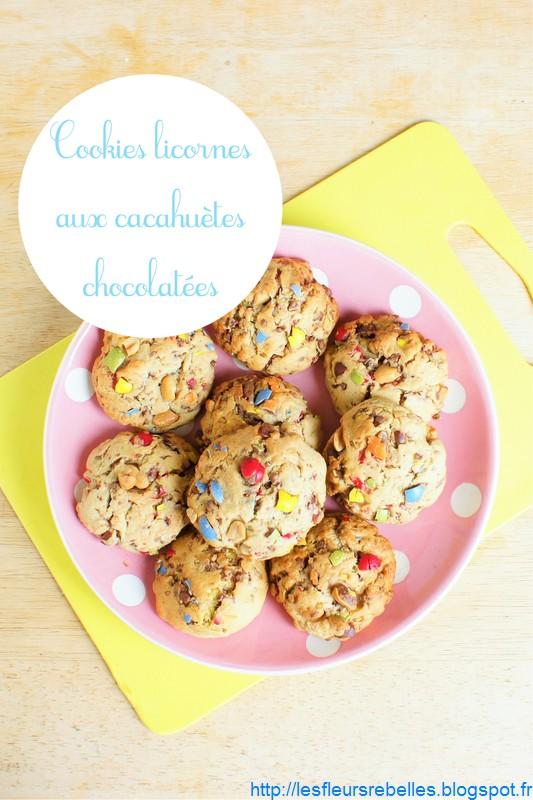 cookies gourmands aux cacahuètes et au chocolat