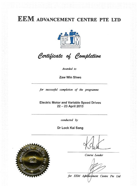 Certificate in Electric Motor and Variable Speed Drives