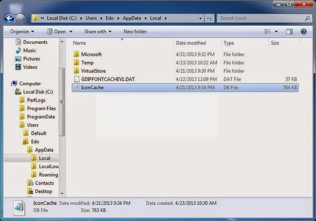Cara Rebuild Icon Cache Yang Hilang Di Windows 7 dan Windows 8