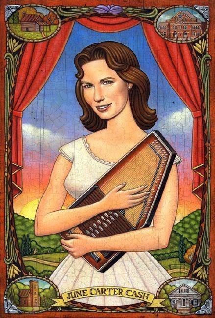 June Carter Cash - Grandes personalidades pintada por Marc Burckhardt