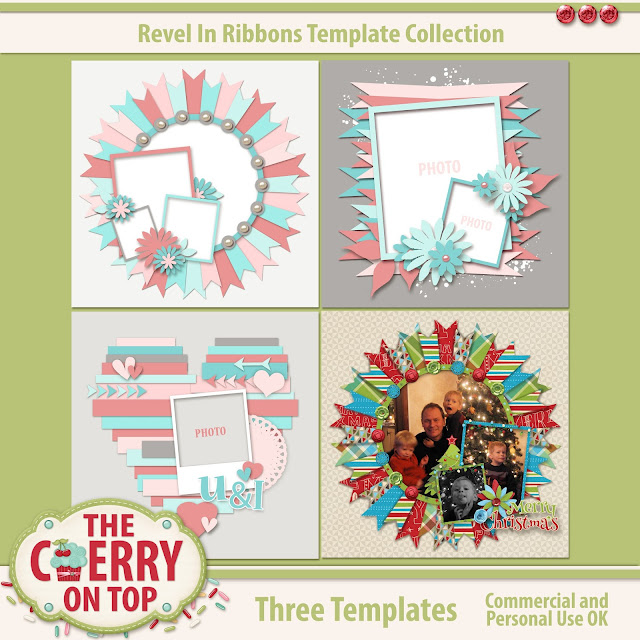 Revel In Ribbons Digital Scrapbooking Templates
