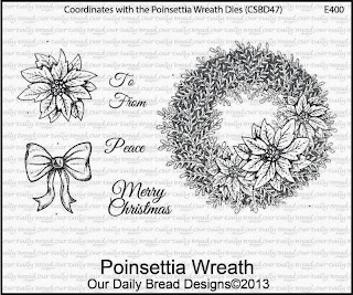 Stamps - Our Daily Bread Designs Poinsettia Wreath