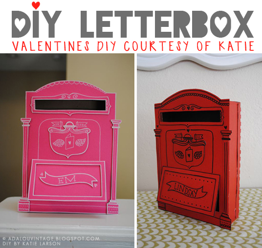 ... AdaLou {the Blog} DIY VALENTINES LETTERBOX BY KATIE 9 Valentineu0027s Day Mailboxes ...