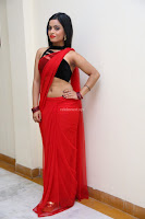 Aasma Syed in Red Saree Sleeveless Black Choli Spicy Pics ~  Exclusive Celebrities Galleries 024.jpg