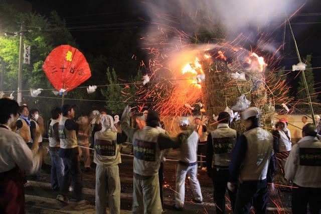 Asama Onsen Taimatsu Festival (Fire Festival), Matsumoto City, Nagano Pref.