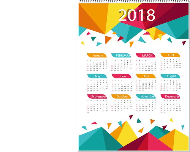 2018 Calendar for Kids