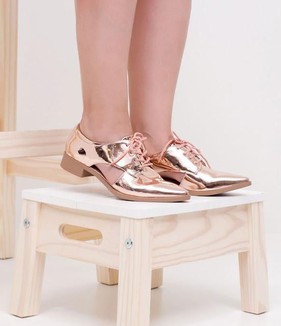Sapato metalizado (bronze)