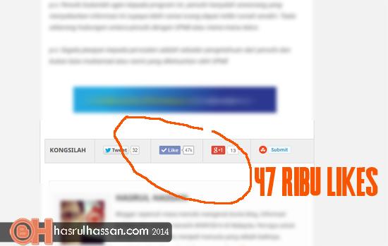 Rahsia Entri Blog Terima 47 Ribu Likes