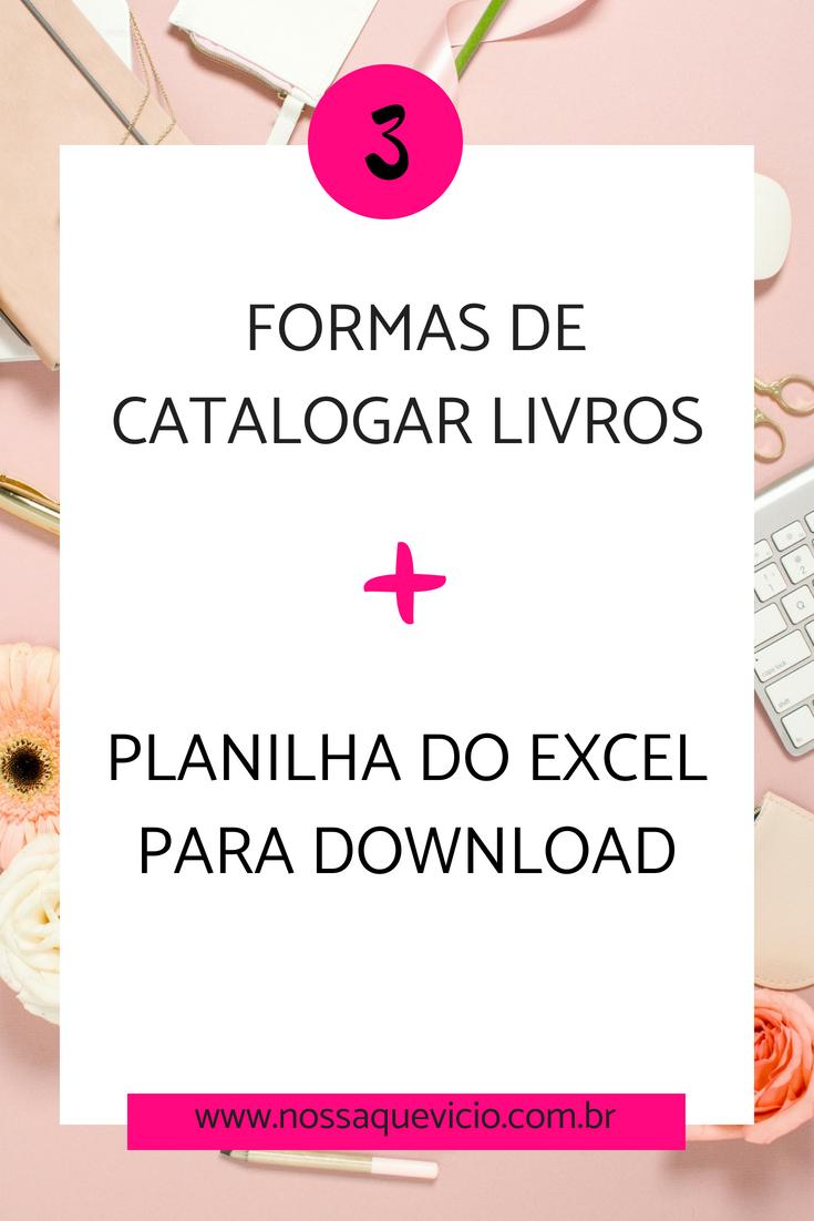 FORMAS DE CATALOGAR LIVROS