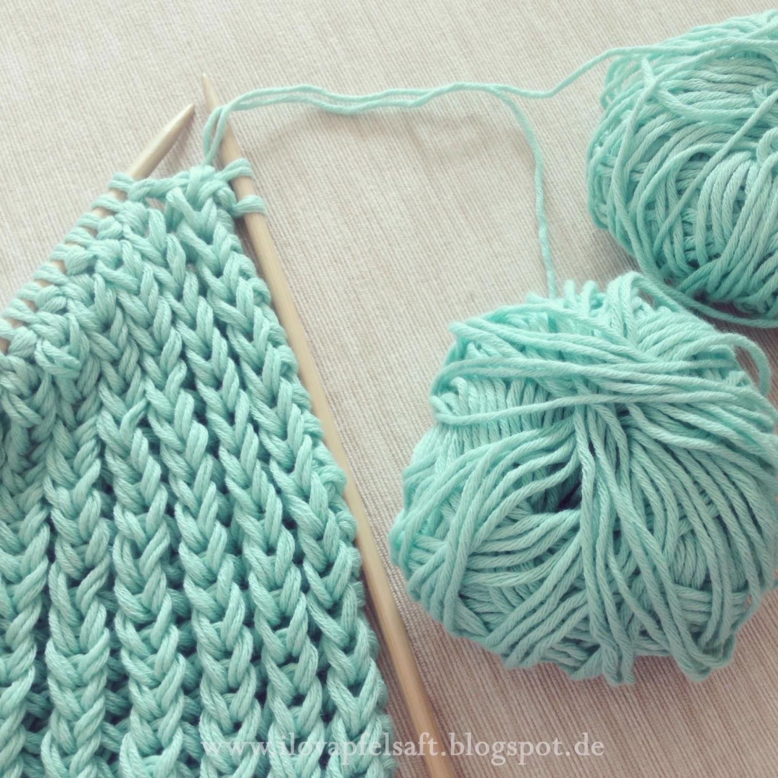 Ilovapfelsaft: Brioche (Fisherman's Rib) Knitting Pattern