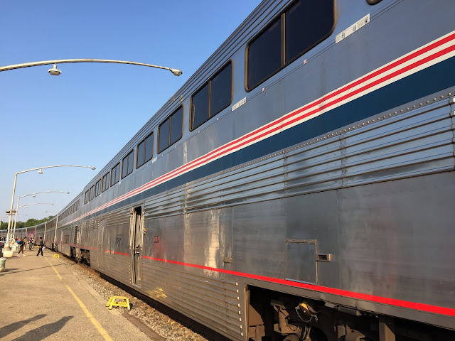 The Empire Builder stopped at Minot, North Dakota.