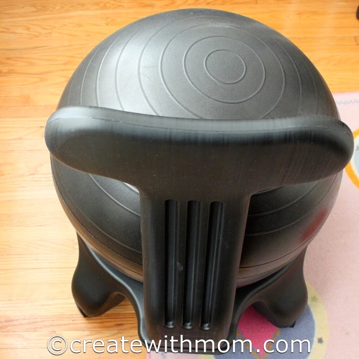 diy exercise ball chair base driving simulator create with mom: the awesome balanceball