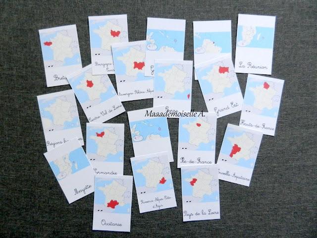 || Cartes de nomenclature à télécharger gratuitement ; Régions françaises